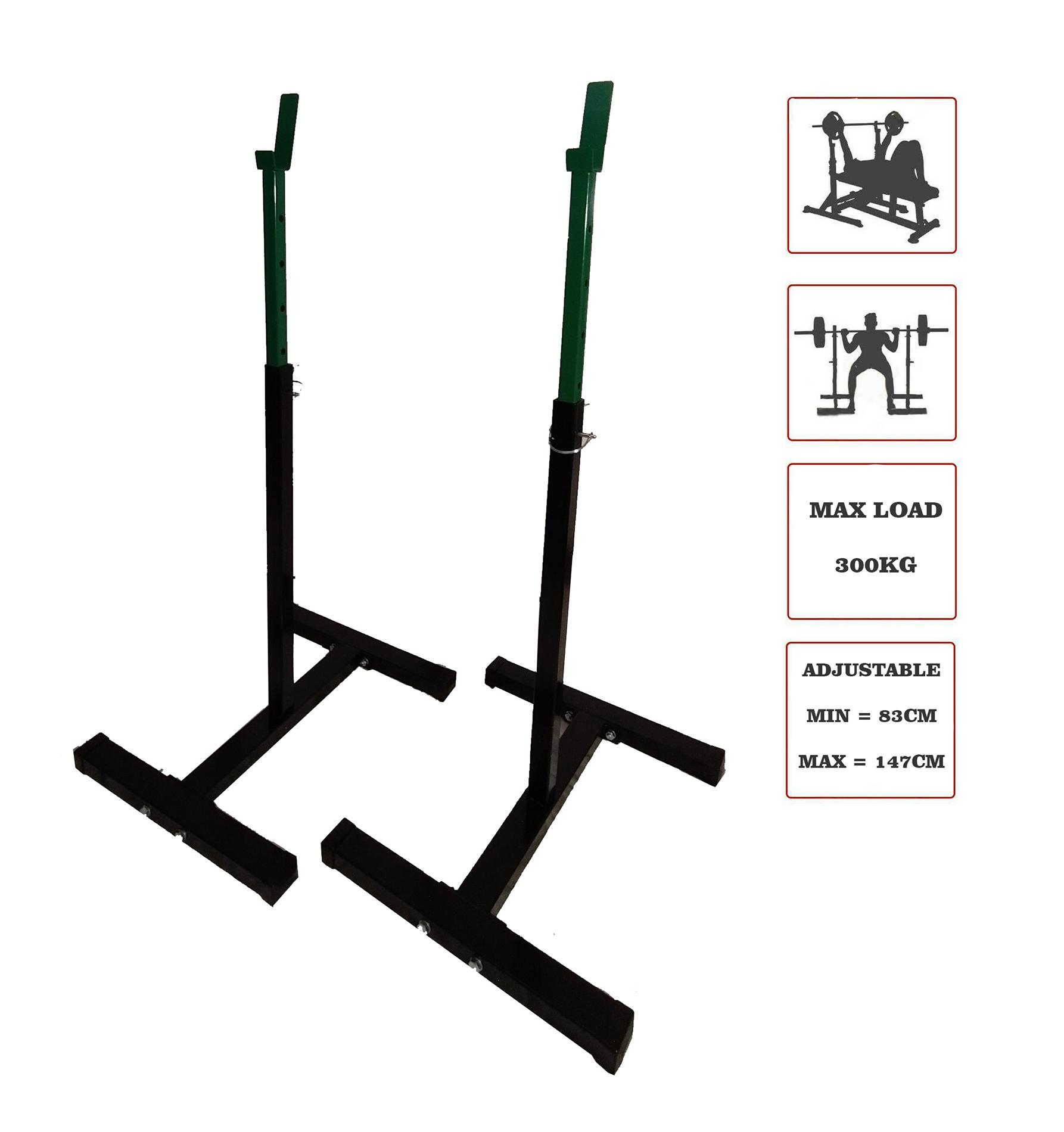 Squat stands, bench press rack
