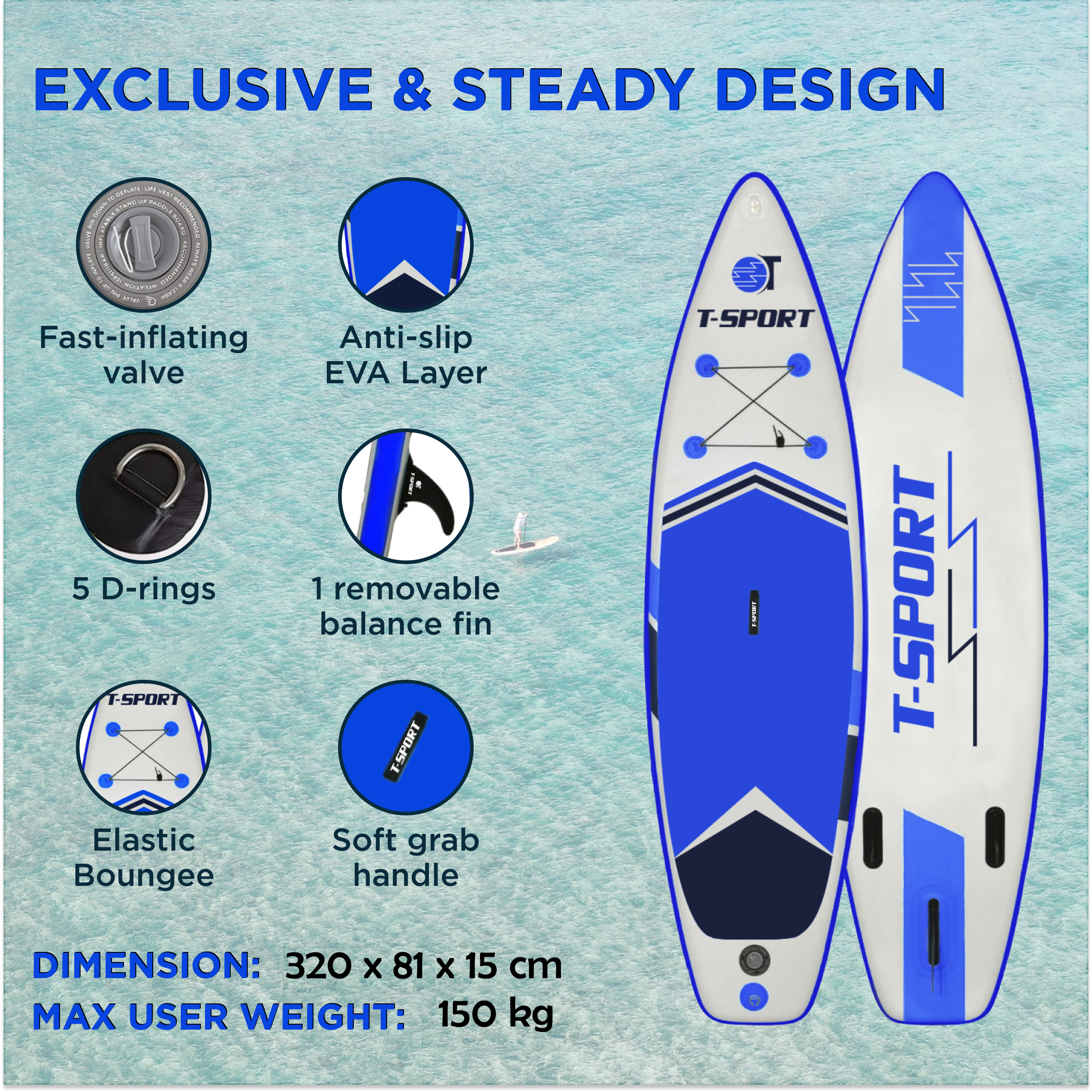 iSUP Paddle board T-Sport