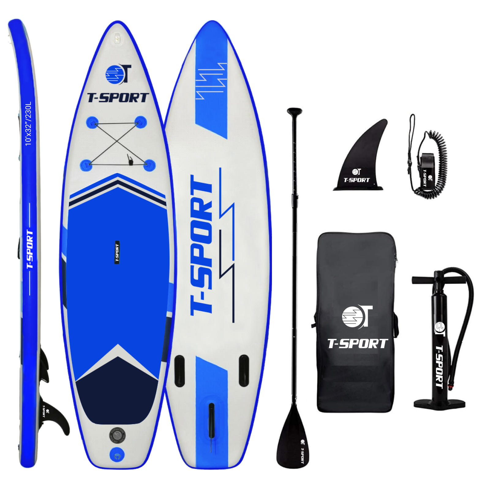 t-sport paddle board red