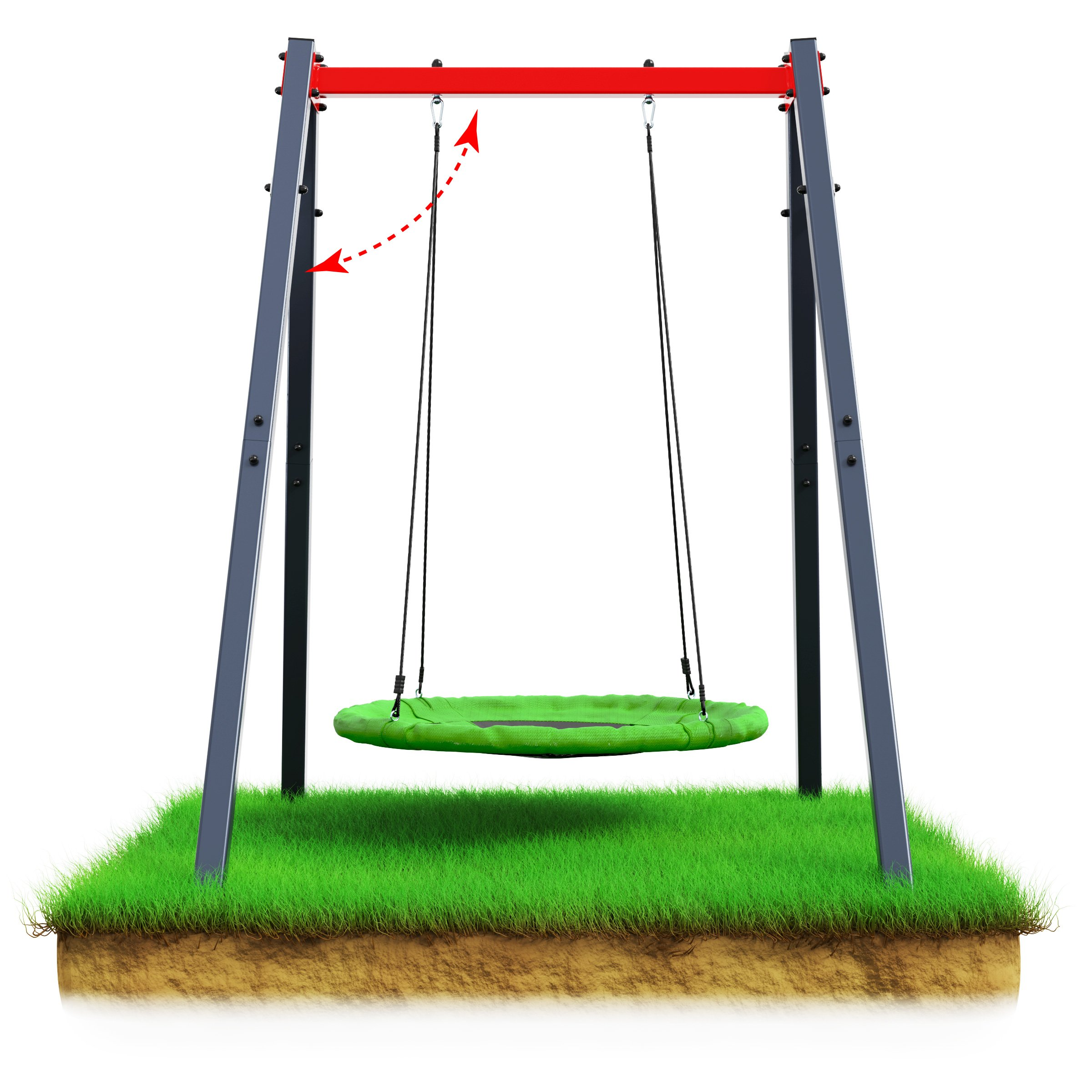 swing with nest