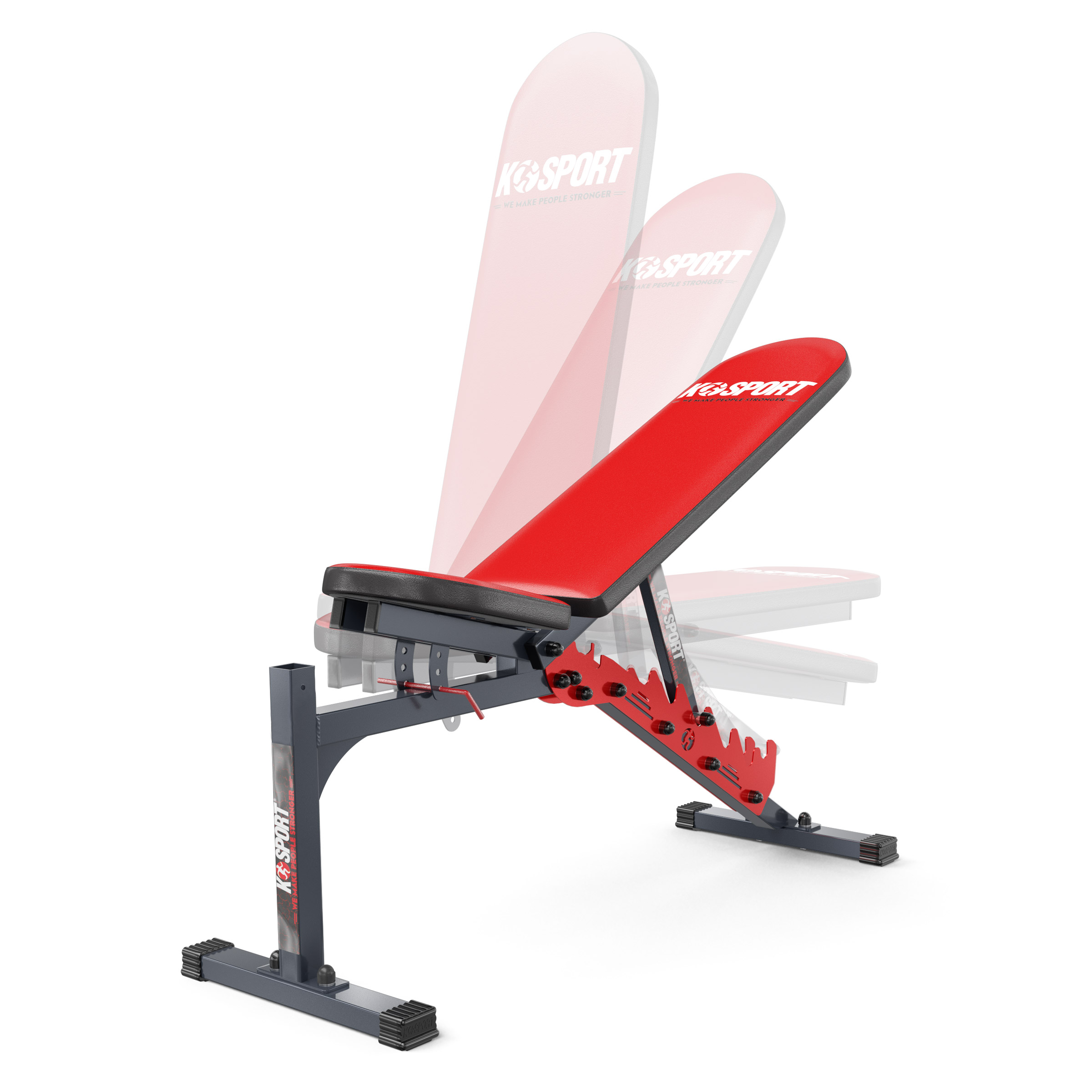 gym bench and stands